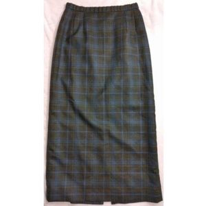 Vintage Pendleton Wool Pencil Skirt Plaid